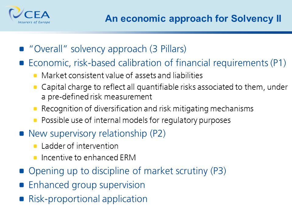 An economic approach for Solvency II