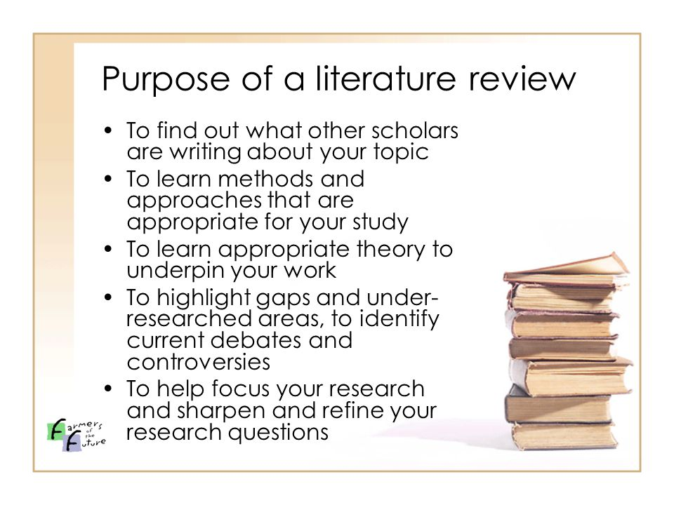purpose of a literature review in research