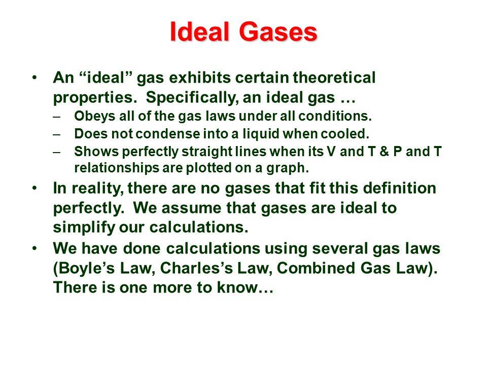 ideal gas characteristics