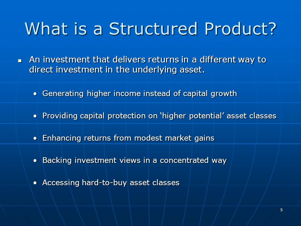 What is a Structured Product