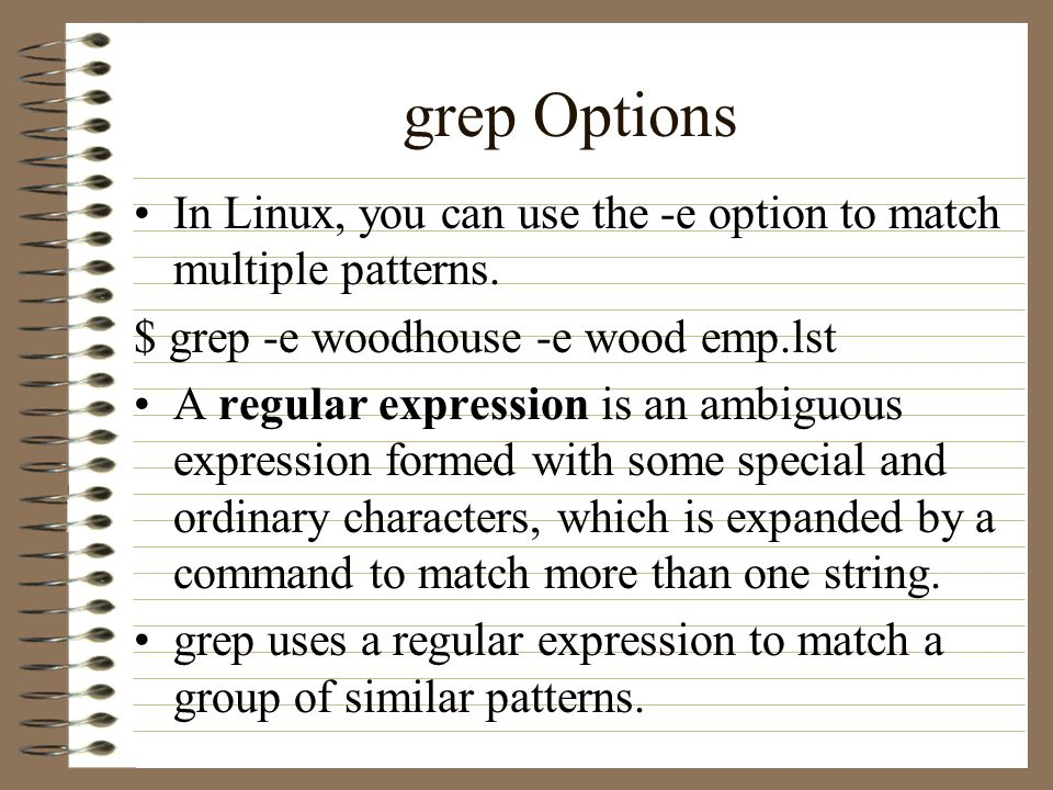 ChinChih Chang CS 60C Introduction To UNIX Lecture 60 Filters Interesting Grep Multiple Patterns