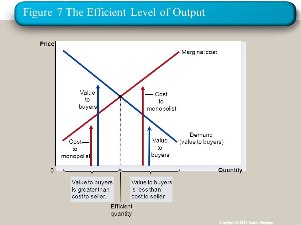 Figure 7 The Efficient Level of Output