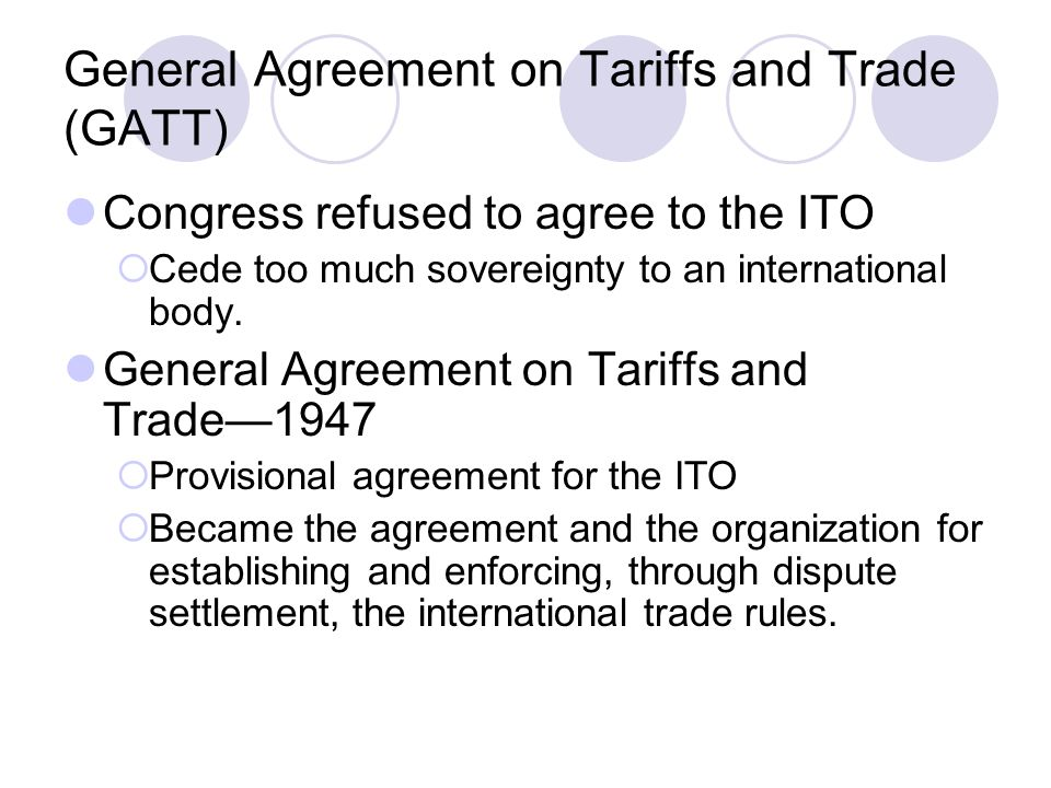 The World Trade Organization Ppt Video Online Download