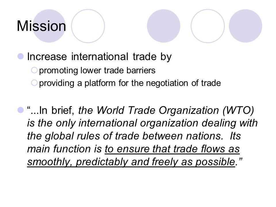 functions of world trade organisation