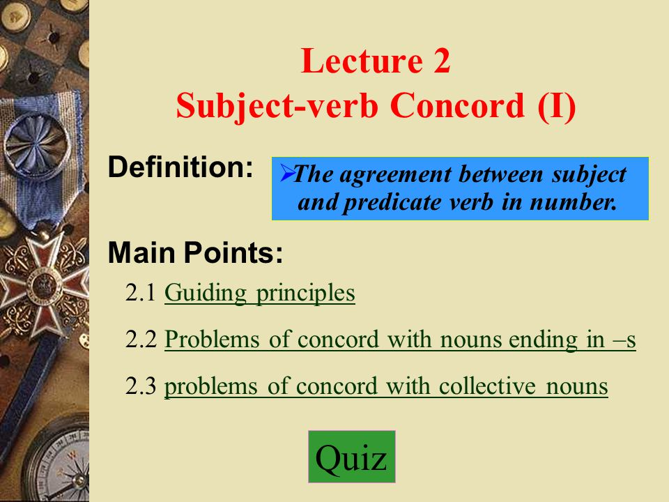 Subject Verb Concord I Ppt Download