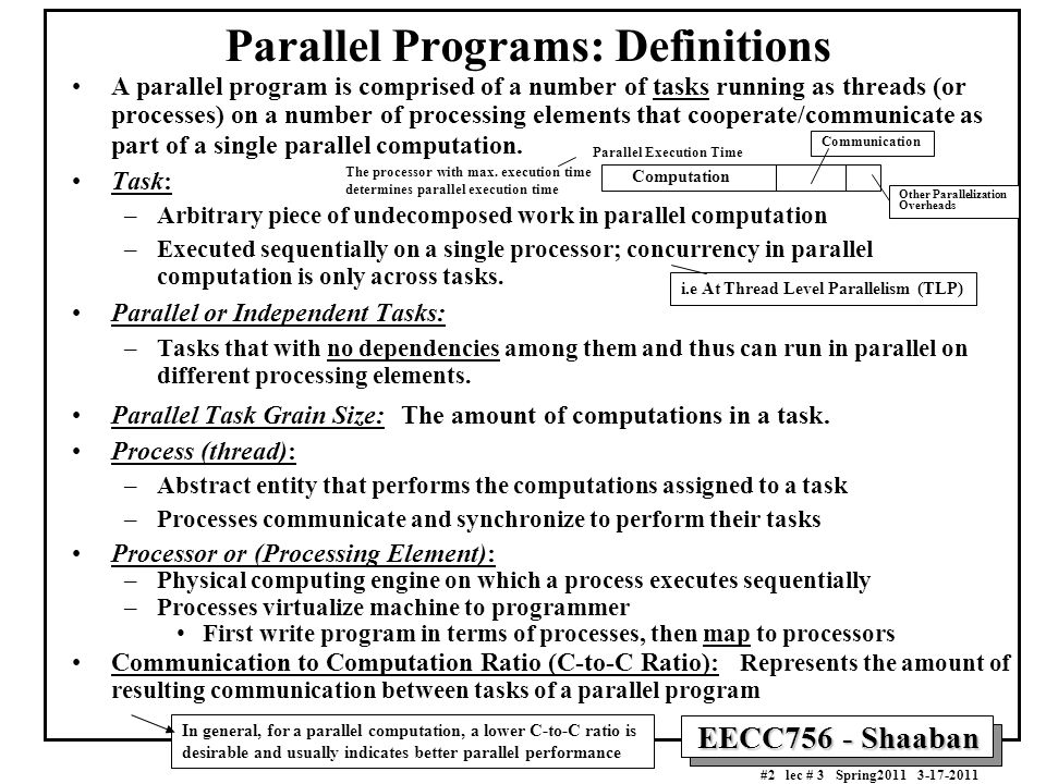 Parallel Programs: Definitions