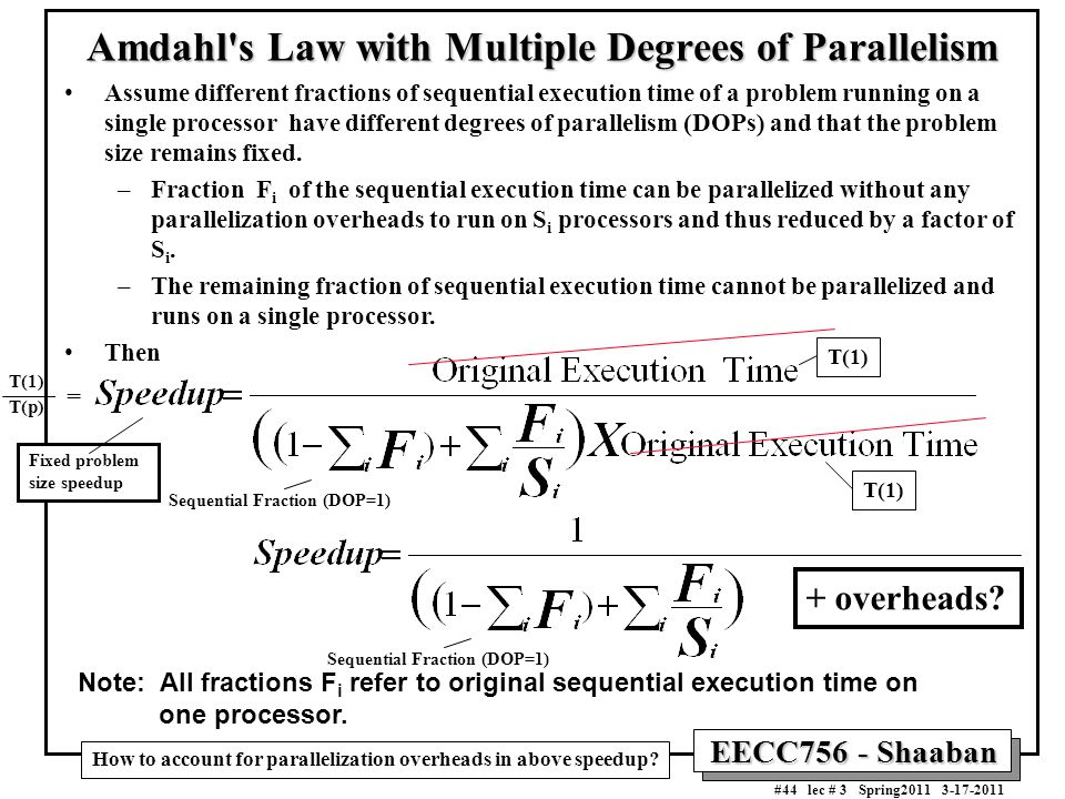 Amdahl s Law with Multiple Degrees of Parallelism
