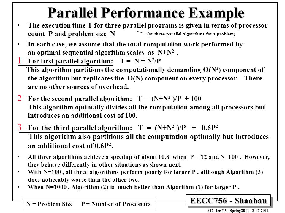 Parallel Performance Example