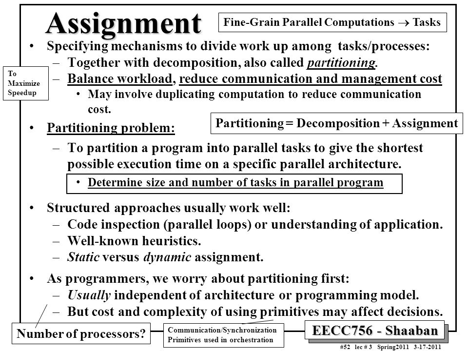 Fine-Grain Parallel Computations ® Tasks