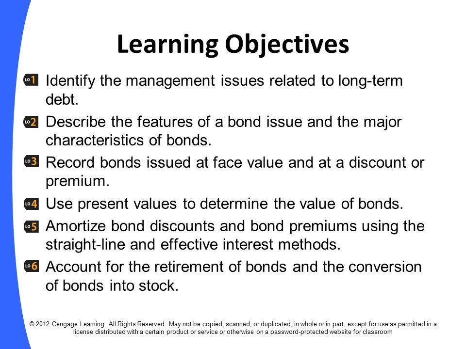 characteristics of long term debt