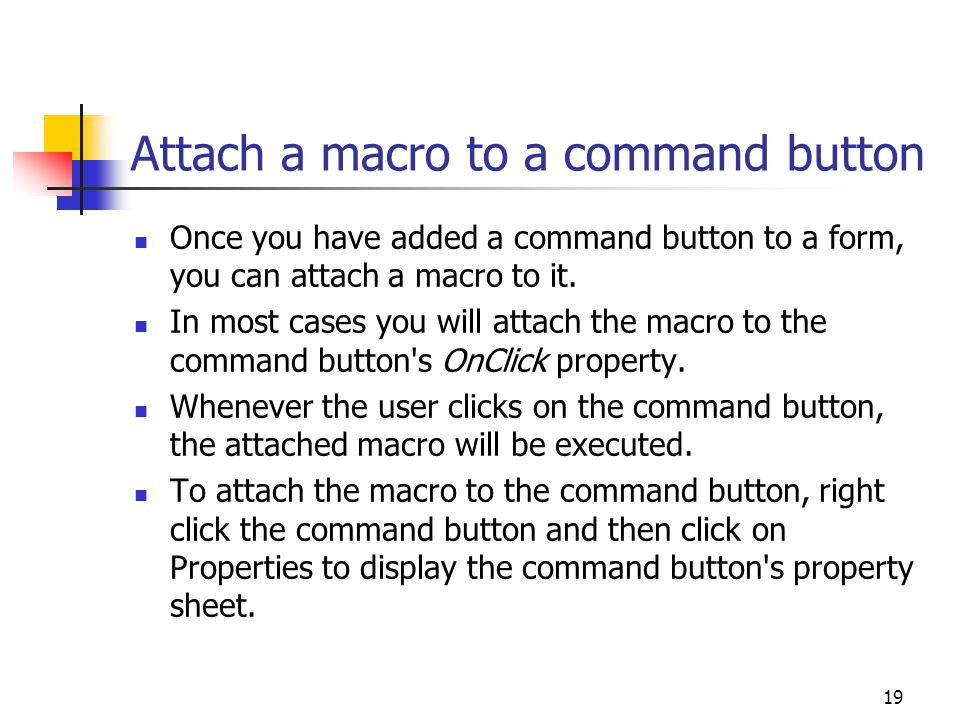 Attach a macro to a command button