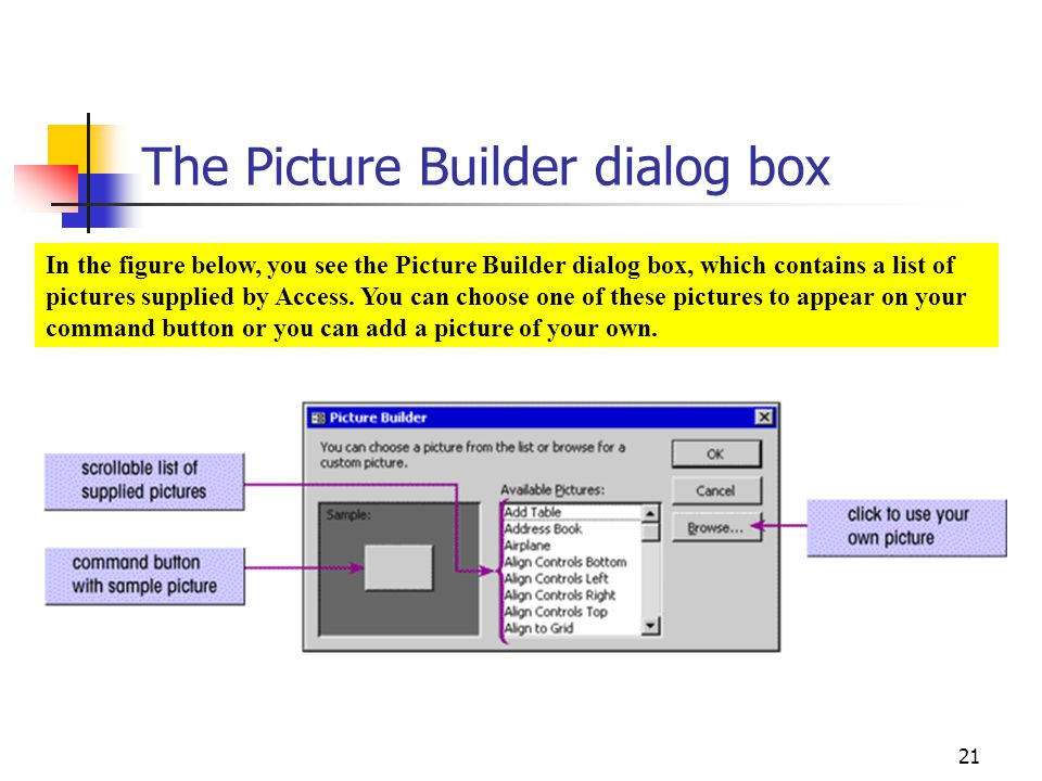 The Picture Builder dialog box