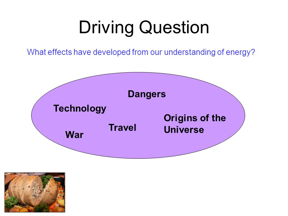 Driving Question Dangers Technology Origins of the Universe Travel War