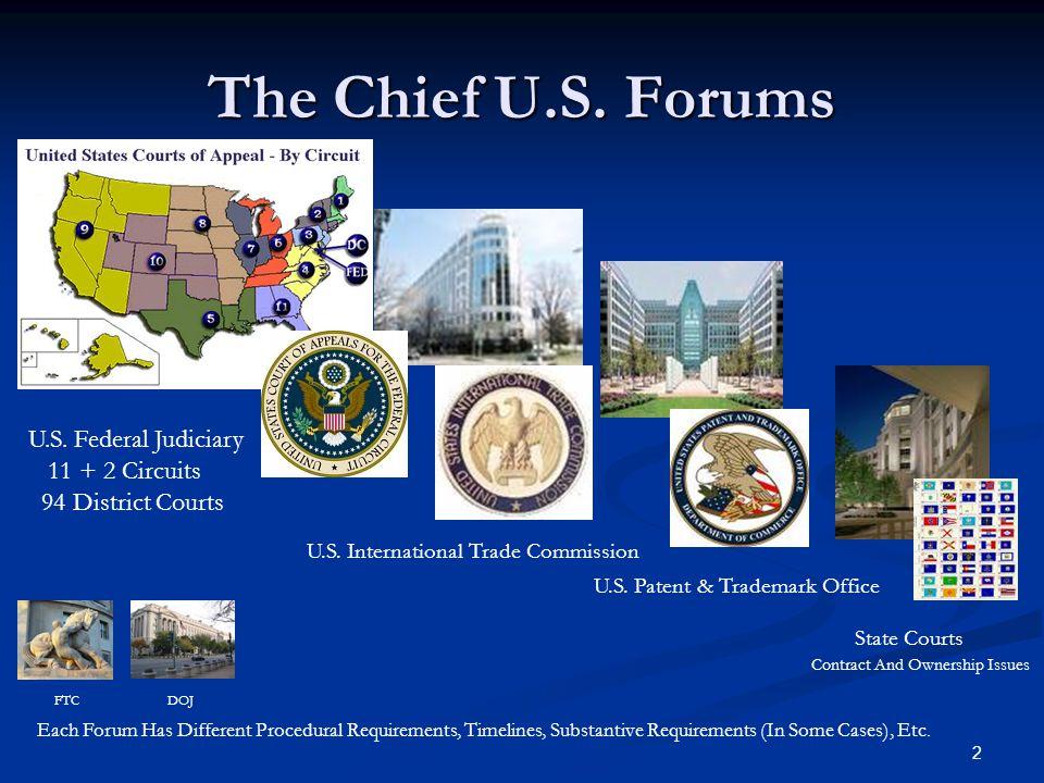 U S  PATENT LITIGATION Responsive Strategies & Requirements