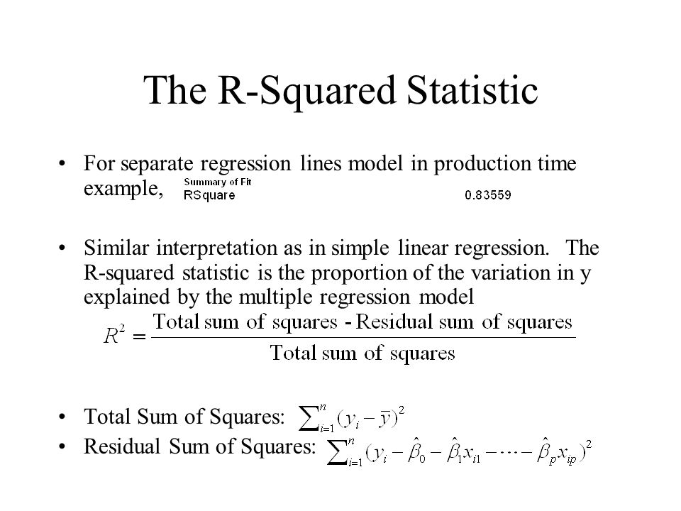 The R-Squared Statistic