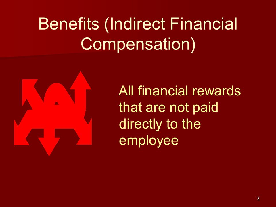 Benefits (Indirect Financial Compensation)