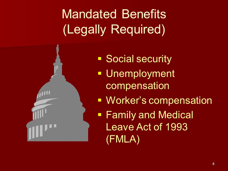 Mandated Benefits (Legally Required)