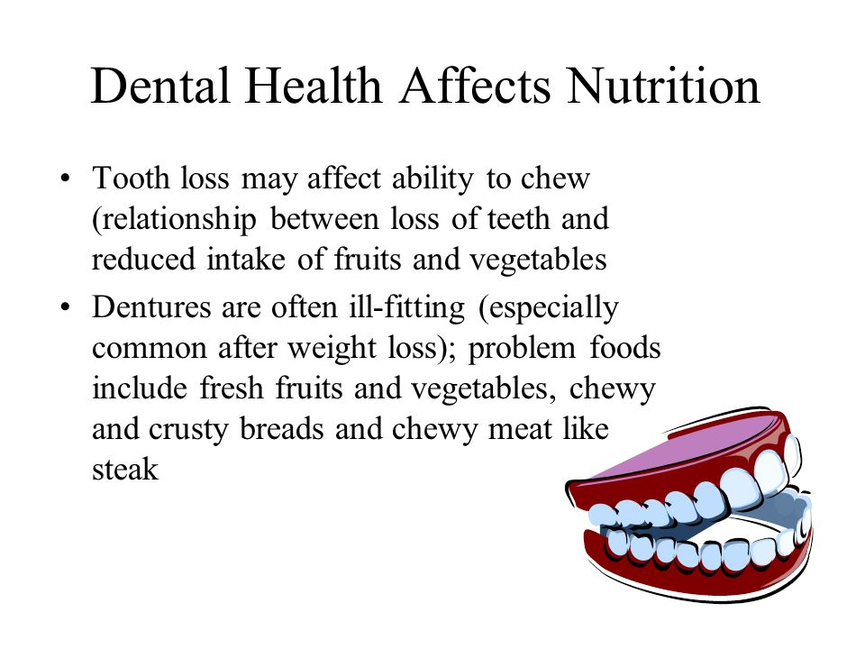 Nutrition for Oral and Dental Health - ppt video online download