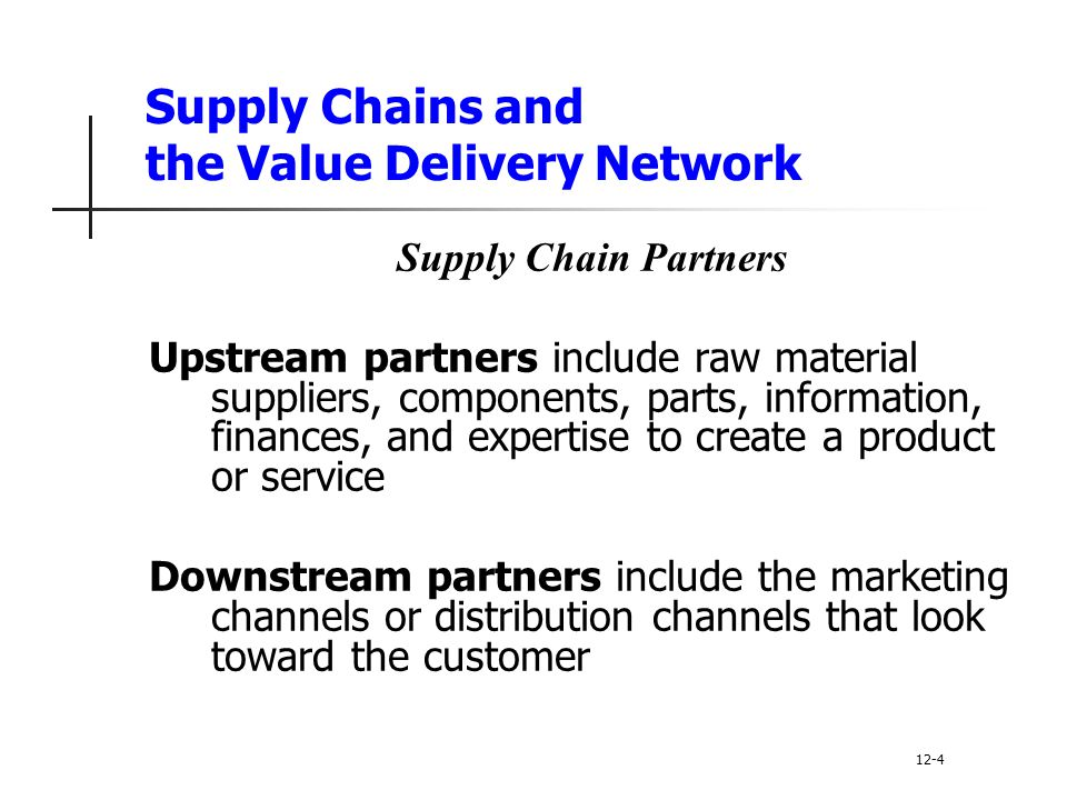 Supply Chains and the Value Delivery Network