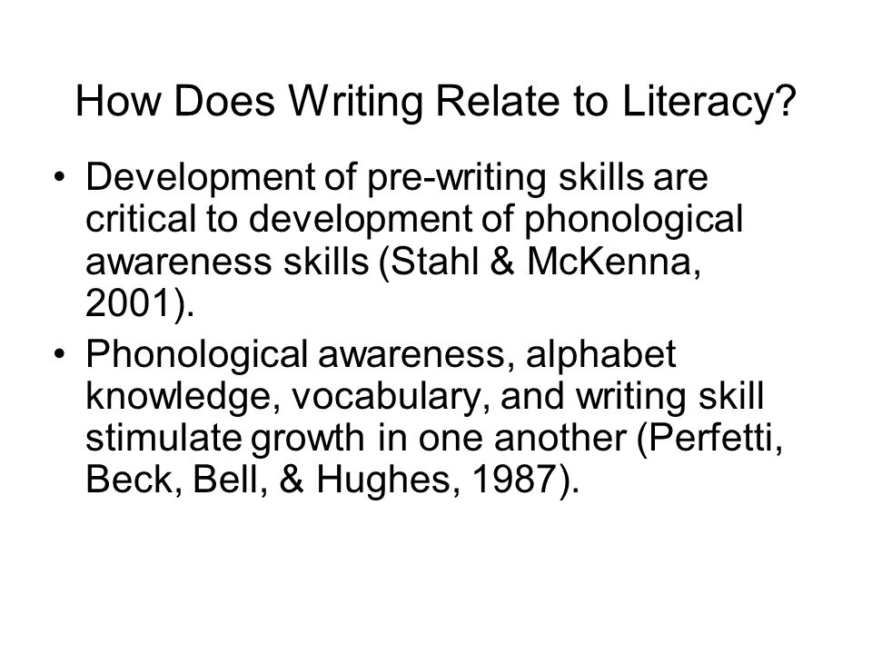 How Does Writing Relate to Literacy