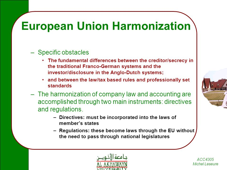 Harmonization and International Accounting Standards - ppt