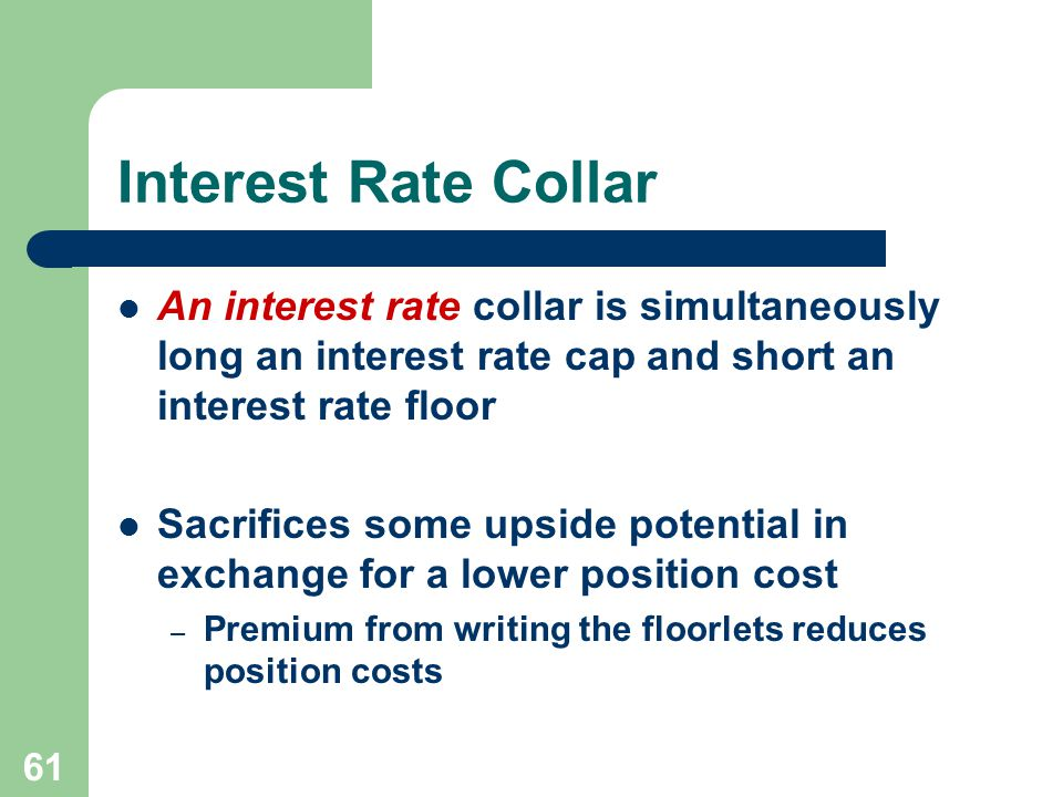 The Pricing Of Default Free Interest Rate Cap Floor And Collar