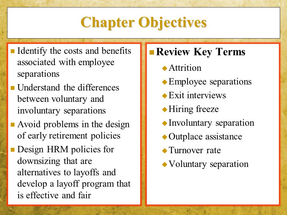Chapter Objectives Review Key Terms