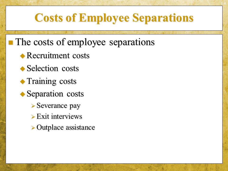Costs of Employee Separations