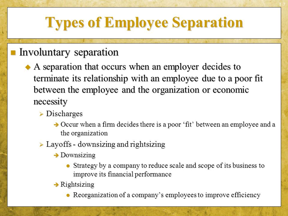 Types of Employee Separation