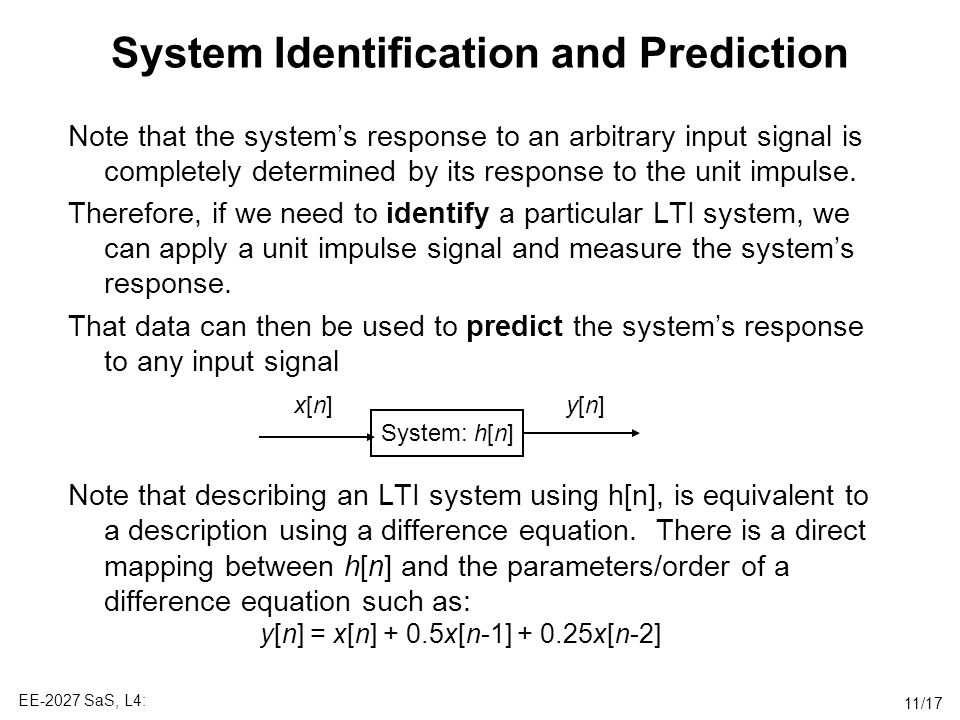 System Identification and Prediction