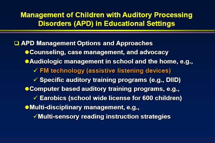 Auditory Processing Disorders Apd A Common And Serious