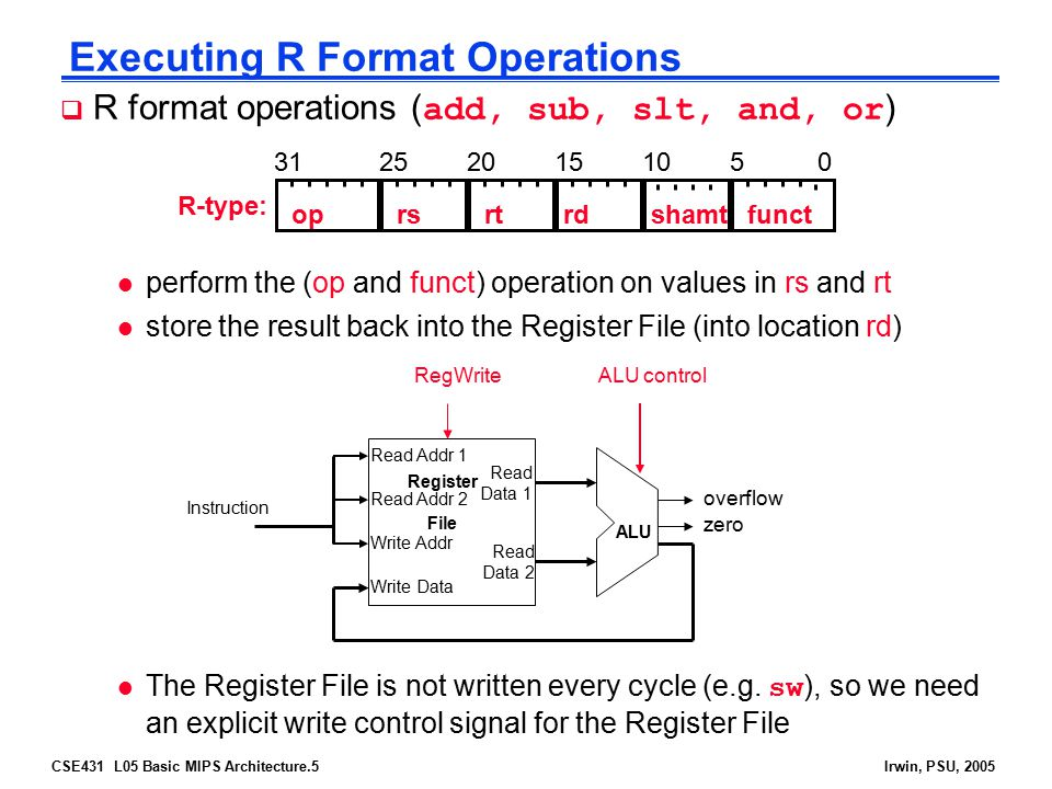 Executing R Format Operations