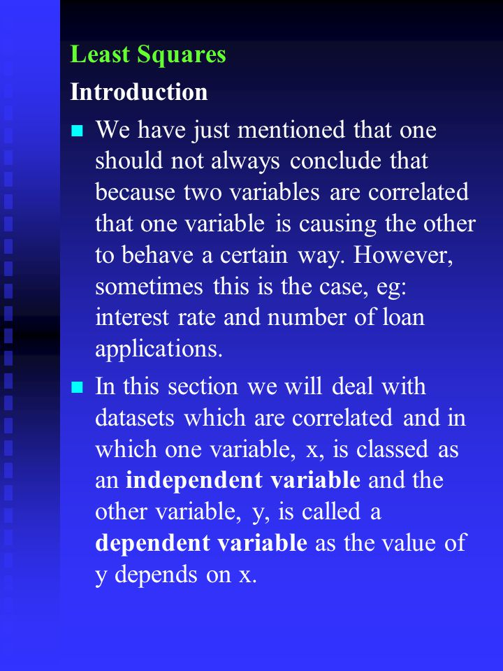 Least Squares Introduction.