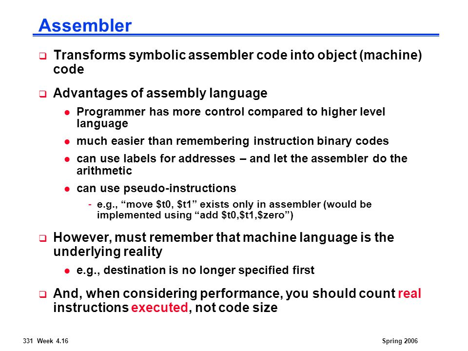 14:332:331 Computer Architecture and Assembly Language Spring 06