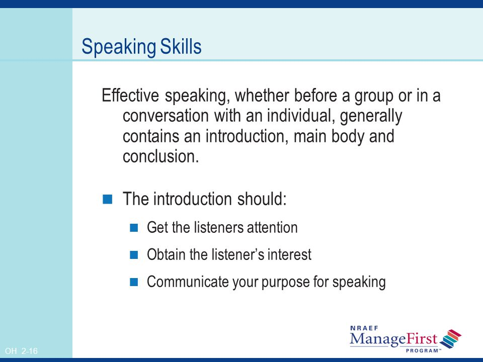 how to develop speaking skills