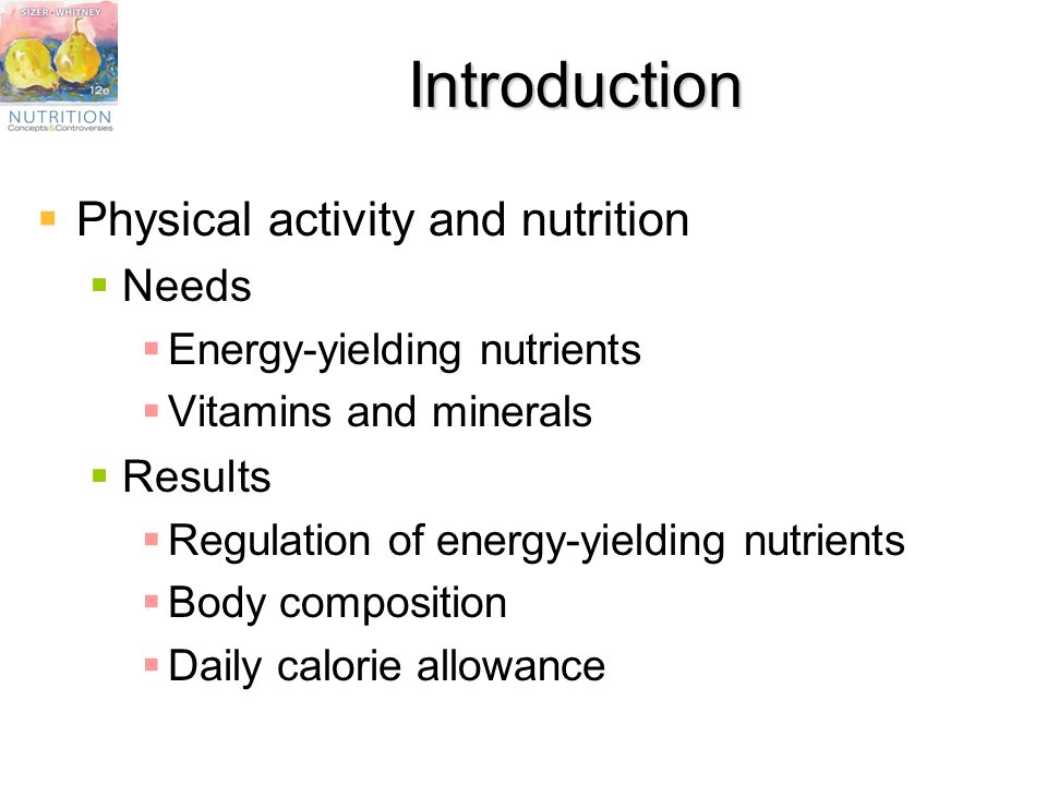 Chapter 10 Nutrients Physical Activity And The Bodys Responses