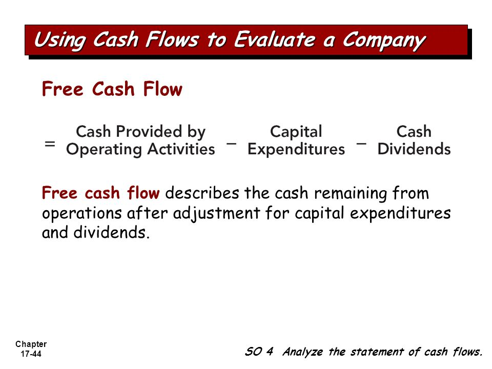 Using Cash Flows to Evaluate a Company