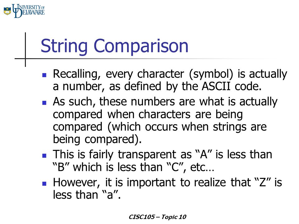 Topic 10 Strings Ppt Download