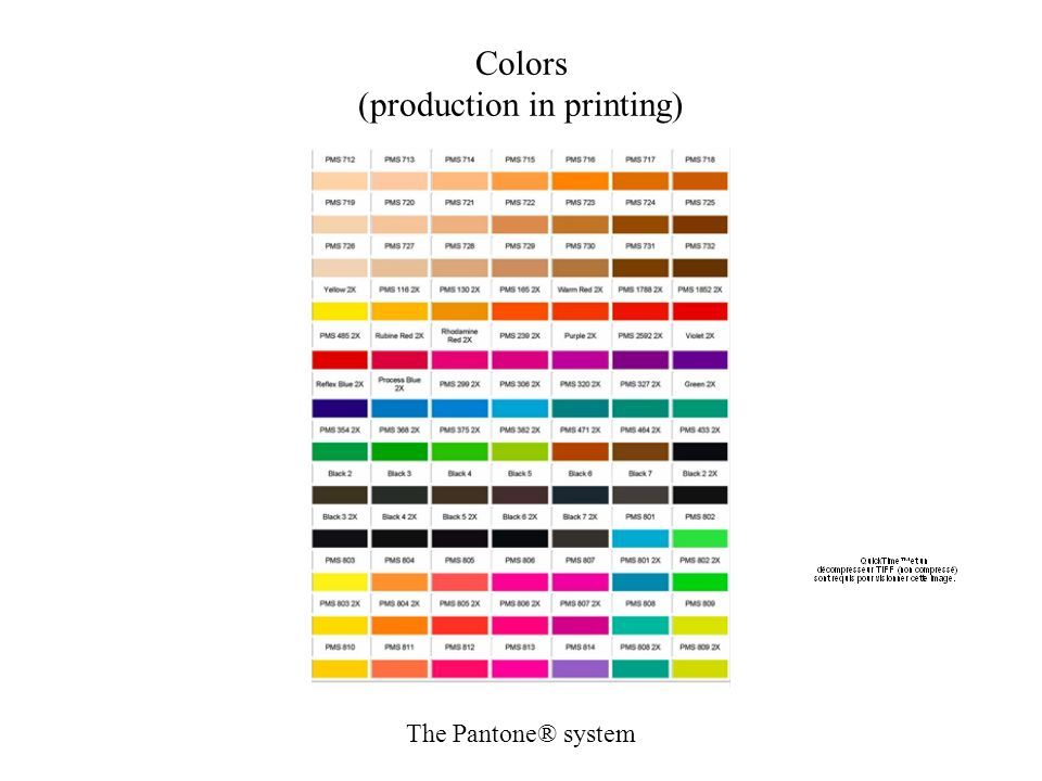 Colors (production in printing)