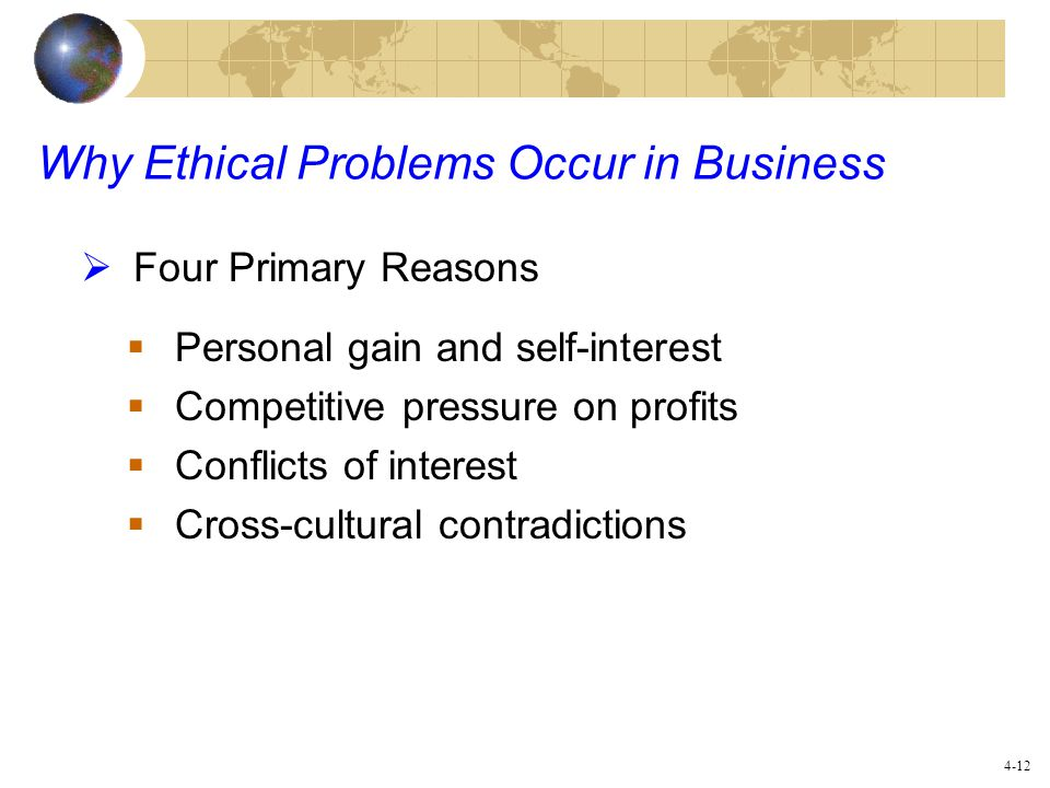 Why Ethical Problems Occur In Business