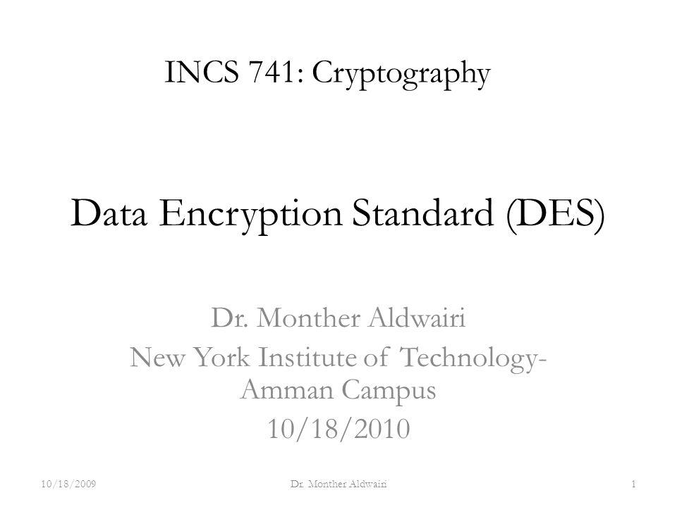 Data Encryption Standard (DES) - ppt download