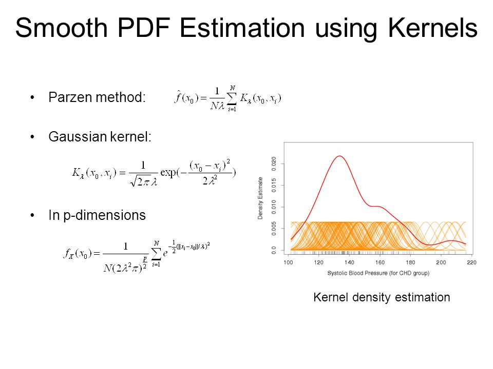 Smooth PDF Estimation using Kernels