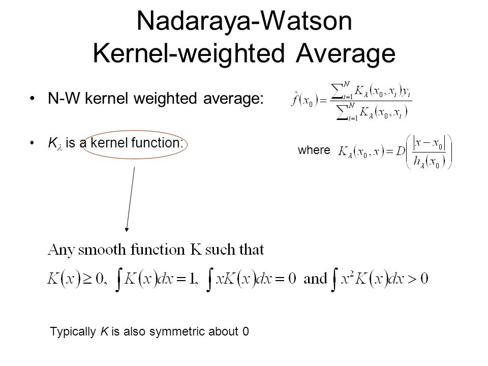Nadaraya-Watson Kernel-weighted Average