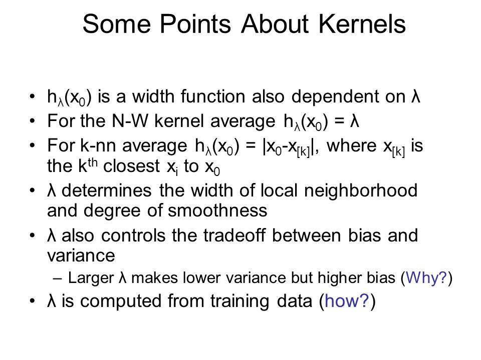 Some Points About Kernels