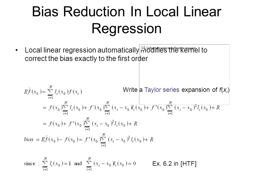 Bias Reduction In Local Linear Regression