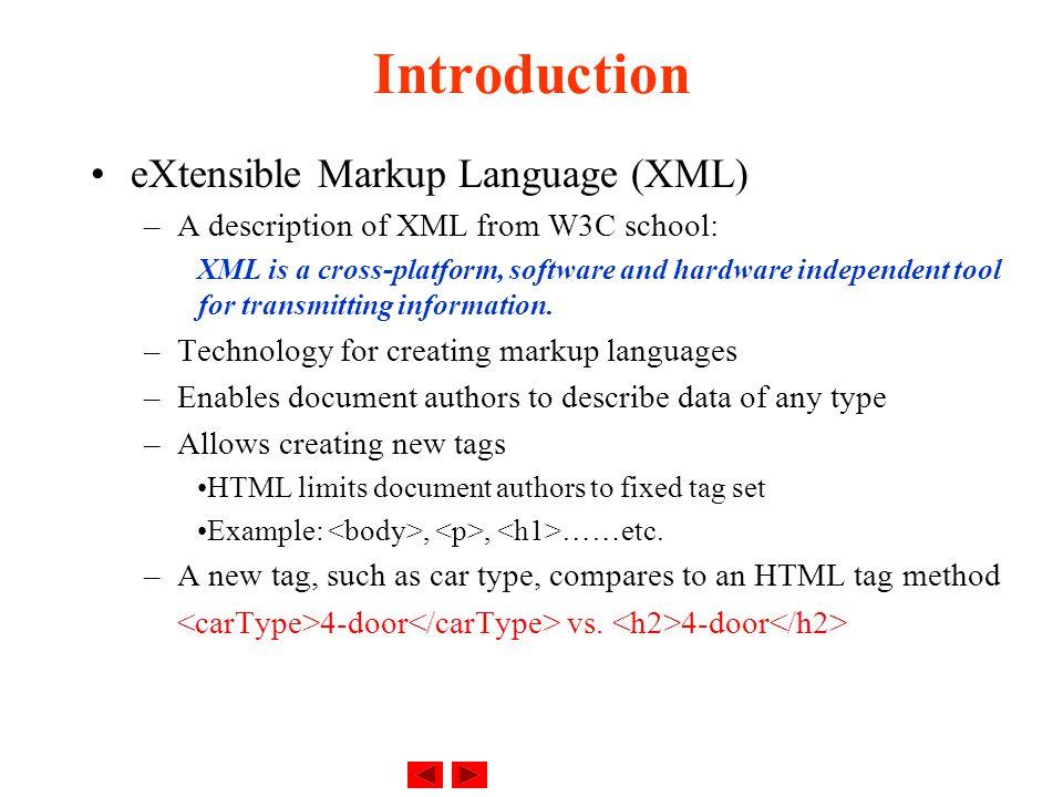 eXtensible Markup Language (XM...