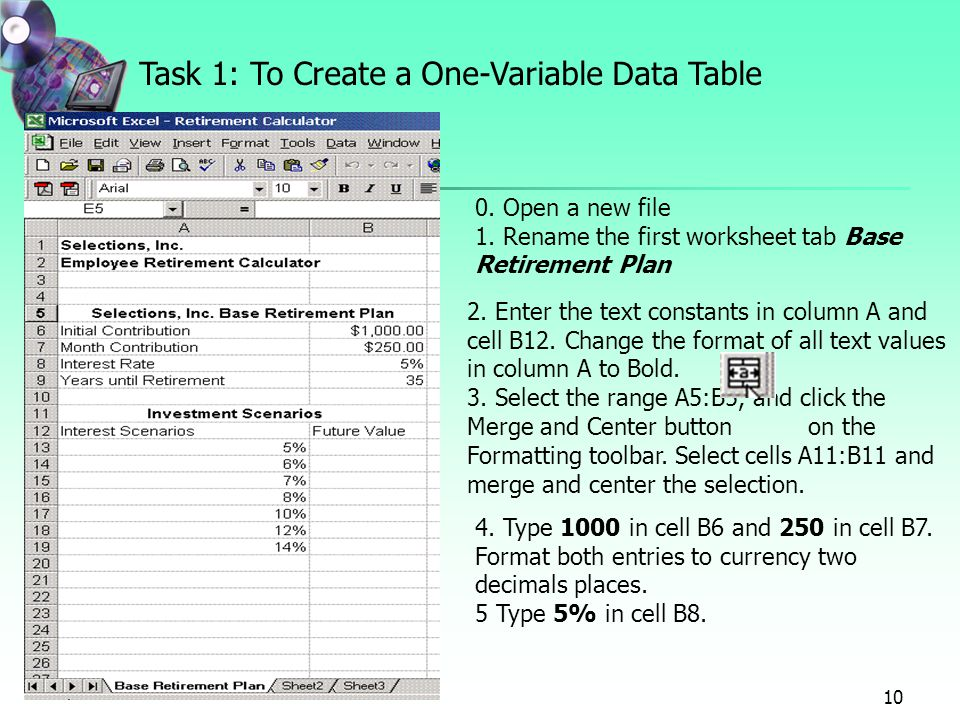 Project 7 Forecasting Values With What-If Analysis: Using Data ...