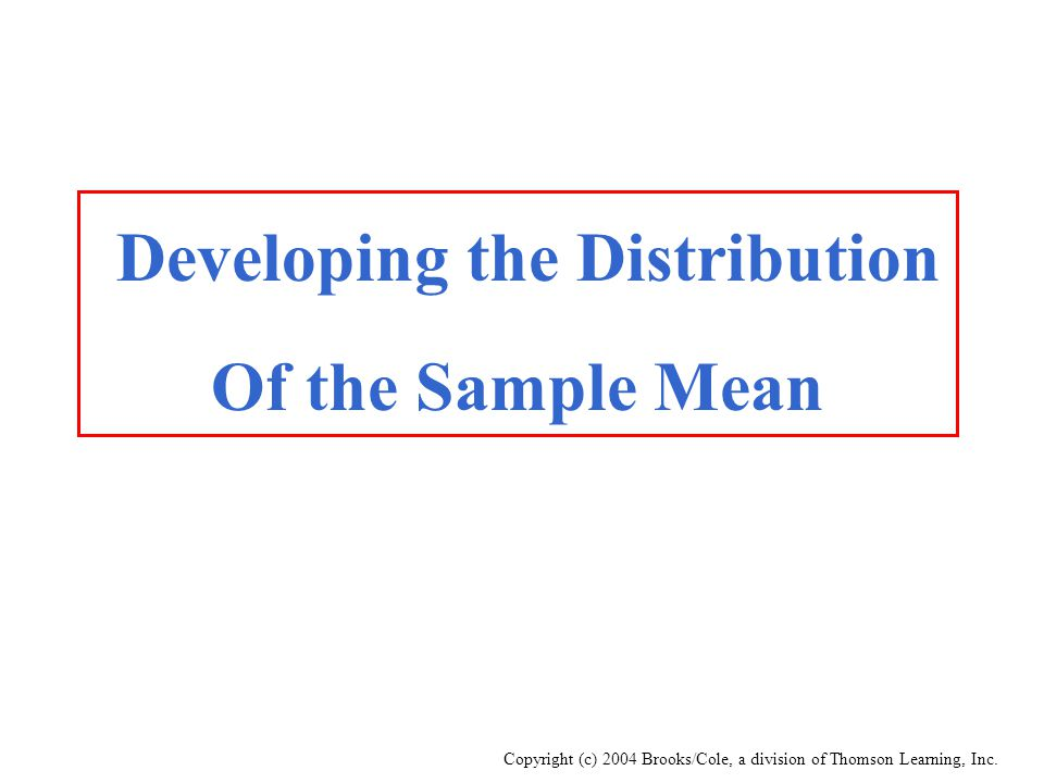 Developing the Distribution