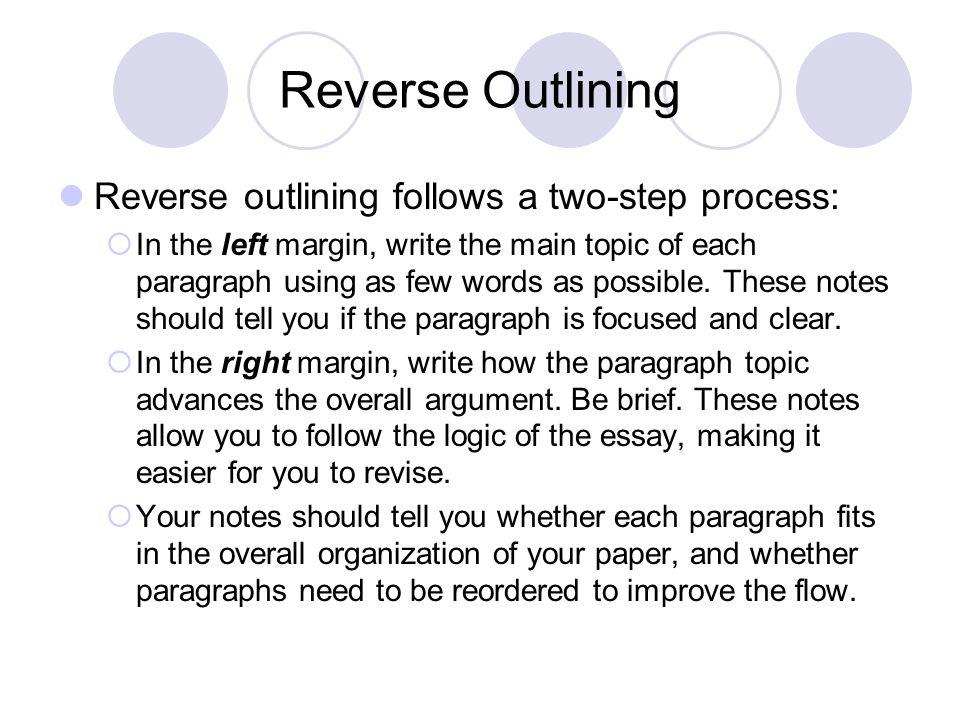 how to write a reverse outline