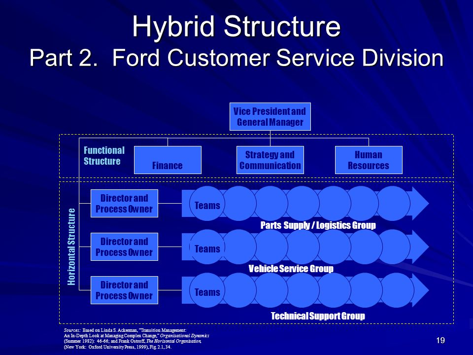 what is a hybrid organizational structure